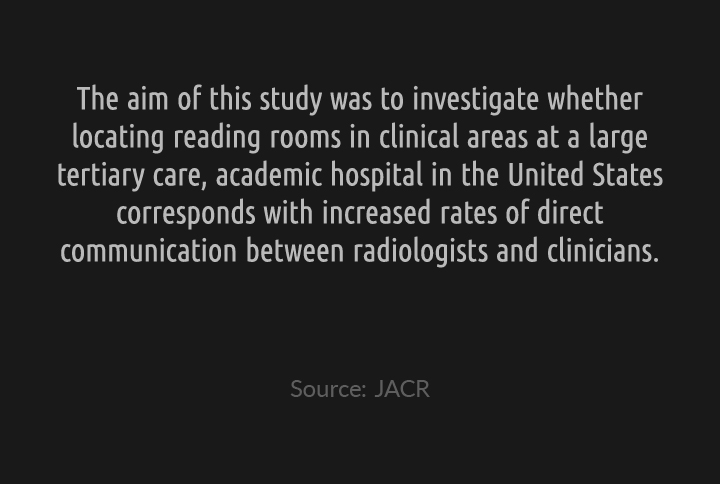 An Evaluation of the Impact of Clinically Embedded Reading Rooms on Radiologist-Referring Clinician Communications
