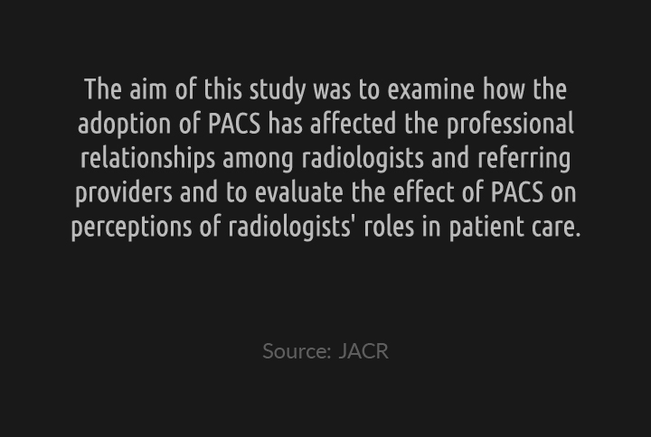 Renegotiating Expertise: An examination of PACS and the Challenges to Radology Using a Medical Anthropologic Approach